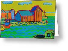 rockport Motif Greeting Card by Debra Bretton Robinson