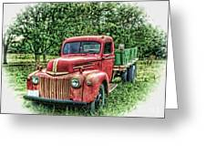 Rocks Old Truck Greeting Card by Pamela Baker