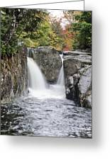 Rocky Falls In The Adirondack Mountains - New York Greeting Card by Brendan Reals