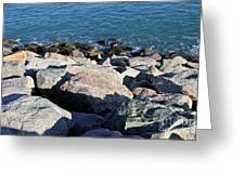 Rocky Water Greeting Card by Extrospection Art