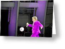 Rod Stewart Soccer Ball Greeting Card by April Reppucci