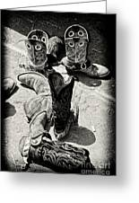 Rodeo Boots And Spurs Greeting Card by Gus McCrea