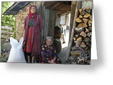 Rodopean Women-3 Greeting Card by Antoaneta Melnikova- Hillman
