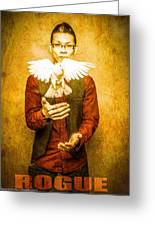 Rogue Poster Greeting Card by Thomas Churchwell