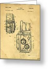 Rolleiflex Medium Format Twin Lens Reflex Tlr Patent Greeting Card by Edward Fielding