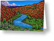 Rolling Rio Grande Greeting Card by Johnathan Harris