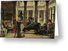 Roman Art Lover Greeting Card by Sir Lawrence Alma-Tadema