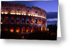 Roman Colosseum At Night Greeting Card by Traveler Scout