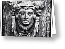 Roman Door Knocker Greeting Card by John Rizzuto