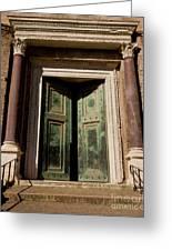 Roman Doors Greeting Card by Dale Halbur