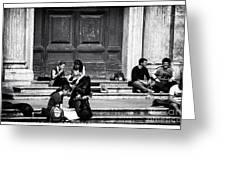 Roman Study Break Greeting Card by John Rizzuto