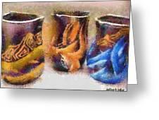 Romanian Vases Greeting Card by Jeff Kolker