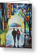 Romantic Night Out Greeting Card by Leslie Allen