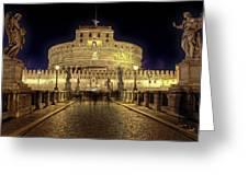 Rome Castel Sant Angelo Greeting Card by Joana Kruse