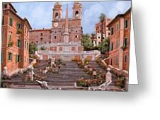 Rome-piazza Di Spagna Greeting Card by Guido Borelli