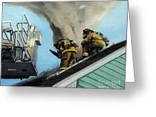 Roof Is Open Greeting Card by Paul Walsh