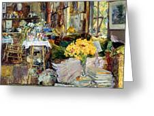 Room Of Flowers, 1894 Greeting Card by Granger