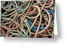 Rope Background Greeting Card by Carlos Caetano