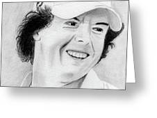 Rory McIlroy Greeting Card by Pat Moore