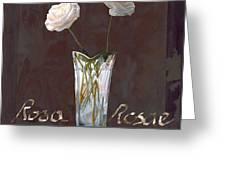 Rosa Rosae Greeting Card by Guido Borelli