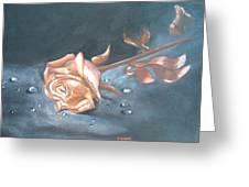 Rose Of Time Greeting Card by Rosa Mari Cano Membrado