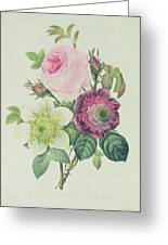 Rose Greeting Card by Pierre Joseph Redoute