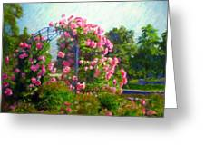 Rose Trellis Greeting Card by Michael Durst