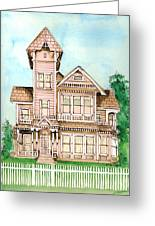 Rose Victorian Inn - Arroyo Grande Ca 1886 Greeting Card by Arline Wagner