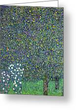 Roses Under The Trees Greeting Card by Gustav Klimt
