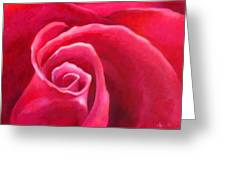 Rosey Lover Greeting Card by Angela Treat Lyon