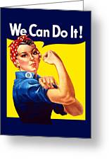 Rosie The Rivetor Greeting Card by War Is Hell Store