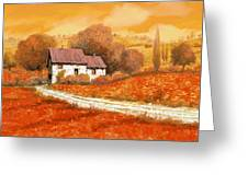 rosso papavero Greeting Card by Guido Borelli