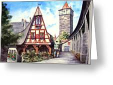 Rothenburg Memories Greeting Card by Sam Sidders