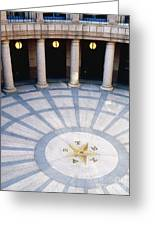Rotunda In Texas State Capitol Greeting Card by Jeremy Woodhouse