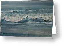 Rough Surf Greeting Card by Amy Bernays