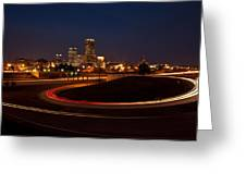 Round The Bend Greeting Card by Jonas Wingfield