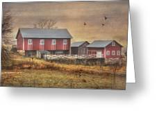 Route 419 Barn Greeting Card by Lori Deiter