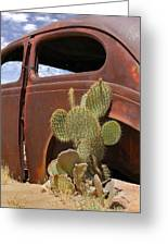Route 66 Cactus Greeting Card by Mike McGlothlen
