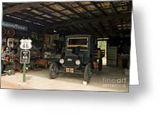 Route 66 Garage, 2009 Greeting Card by Granger