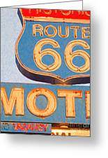 Route 66 Motel Seligman Arizona Greeting Card by Wingsdomain Art and Photography