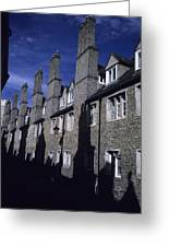 Row Houses Stand Huddled Together Greeting Card by Taylor S. Kennedy