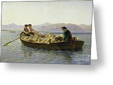 Rowing Boat Greeting Card by Rosa Bonheur