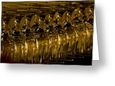Rows Of Wine Glasses Greeting Card by Marion McCristall