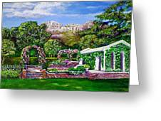 Rozannes Garden Greeting Card by Michael Durst