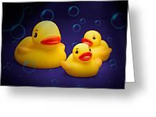 Rubber Duckies Greeting Card by Tom Mc Nemar