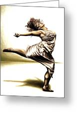 Rubinesque Dancer Greeting Card by Richard Young