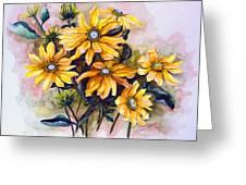 Rudbeckia  Prairie Sun Greeting Card by Karin  Dawn Kelshall- Best