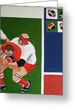 Rugby 3 Greeting Card by Pat Barker