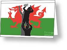 Rugby Wales Greeting Card by Aloysius Patrimonio