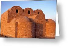 Ruins Of Qasr Amra In Jordan Greeting Card by Sami Sarkis